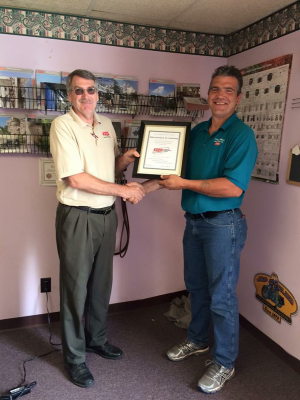 Bryant Factory Authorized Dealer Award