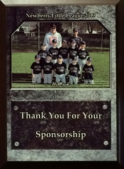 Proud sponsor of community little league